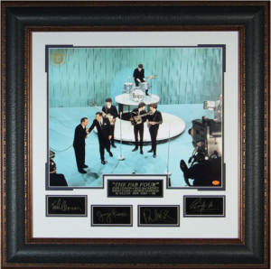 "The Fab Four ""Playing on the Ed Sullivan Show"" Masterpiece Collage"