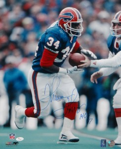 Thurman Thomas Hand Signed Buffalo Bills 16x20 Masterpiece