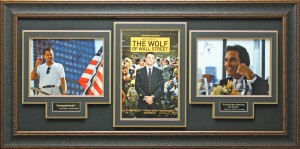"Leonardo DiCapprio and Matthew McCoughnahey Dual Hand Signed ""The Wolf of Wall Street"" Masterpiece Collage"