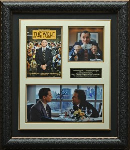 "Leonardo DiCapprio and Matthew McCoughnauhey Dual Hand Signed ""The Wolf of Wallstreet"" Masterpiece Collage"