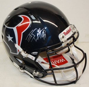 JJ Watt Hand Signed Official Game Issue Houston Texans Speed Model Helmet
