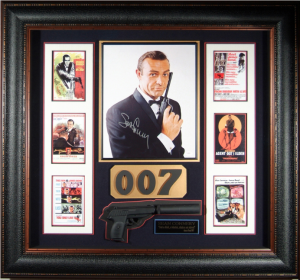 "Sean Connery Hand Signed ""James Bond 007"" with Framed-In Movie Prop PP7 with Silencer"